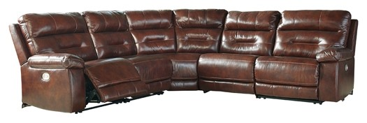 Bancker - 5-Piece Reclining Sectional with Power