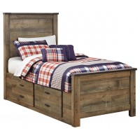 Trinell - Trinell Twin Panel Bed with Drawer Storage