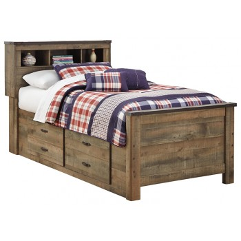 Trinell - Twin Bookcase Bed with 2 Storage Drawers