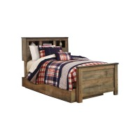 Trinell - Trinell Twin Bookcase Bed with 1 Large Storage Drawer