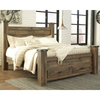Trinell - Trinell King Poster Bed with 2 Storage Drawers