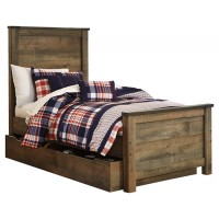 Trinell - Twin Panel Bed with 1 Large Storage Drawer