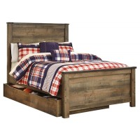 Trinell - Full Panel Bed with 1 Large Storage Drawer