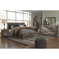 Derekson King Panel Bed with Storage