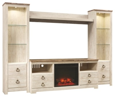 Willowton 4 Piece Entertainment Center With Fireplace W267w1