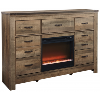 Trinell - Dresser with Electric Fireplace