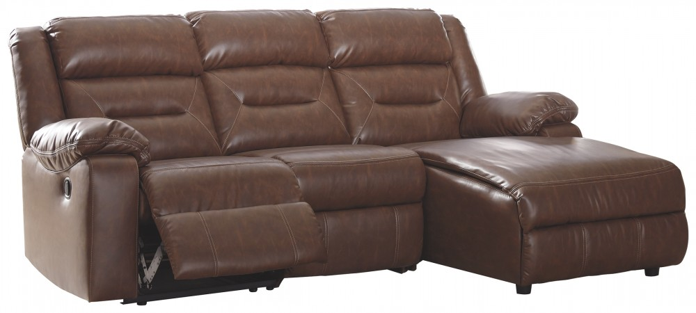 Coahoma - Coahoma 4-Piece Reclining Sectional with Chaise and Power
