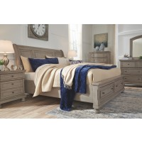 Lettner Queen Sleigh Bed with Storage