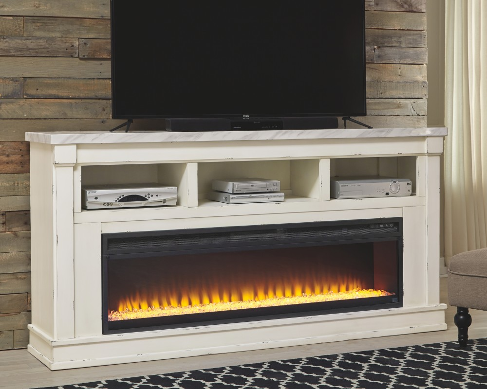 Magnificent Becklyn 74 Tv Stand With Electric Fireplace W642W1 W10022 Home Interior And Landscaping Transignezvosmurscom