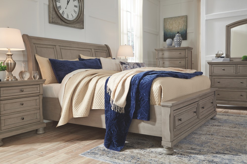 Lettner King Sleigh Bed with Storage