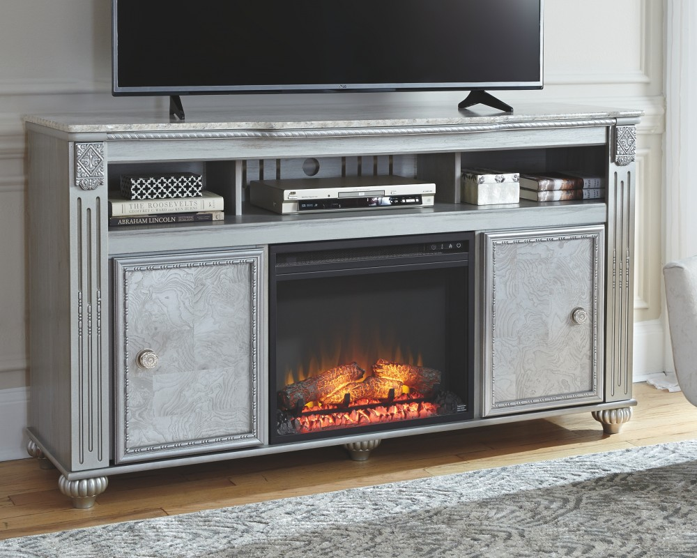 Zolena TV Stand with Fireplace