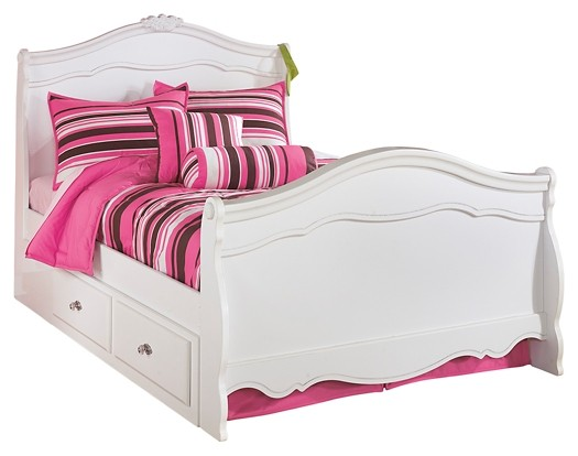 Exquisite - Exquisite Full Sleigh Bed with 4-Storage