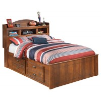 Barchan - Barchan Full Panel Bed with 4 Storage Drawers