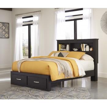 Reylow - Reylow Queen Bookcase Bed with Storage