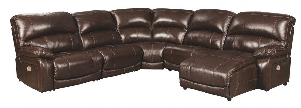 Hallstrung - Hallstrung 5-Piece Reclining Sectional with Chaise and Power