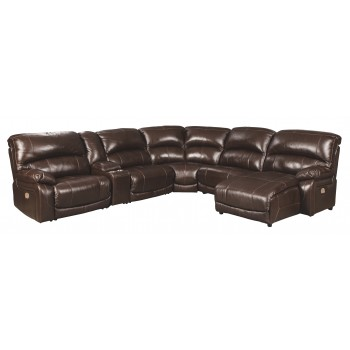 Hallstrung - 6-Piece Power Reclining Sectional with Chaise