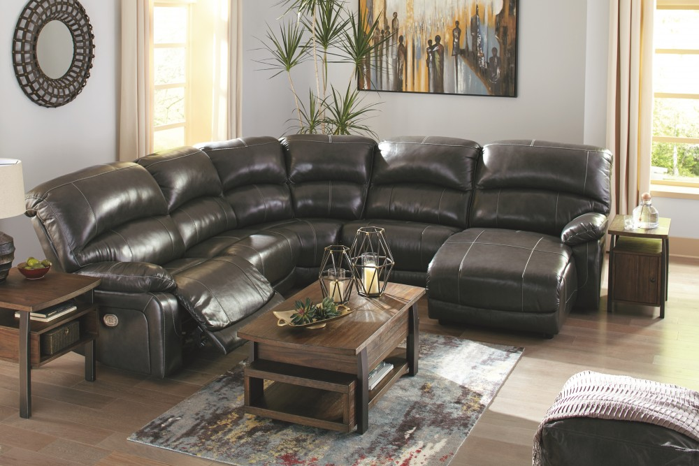 Hallstrung Hallstrung 5 Piece Reclining Sectional With
