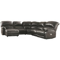 Hallstrung - 5-Piece Power Reclining Sectional with Chaise