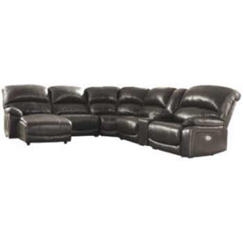 Hallstrung - 6-Piece Reclining Sectional with Chaise and Power