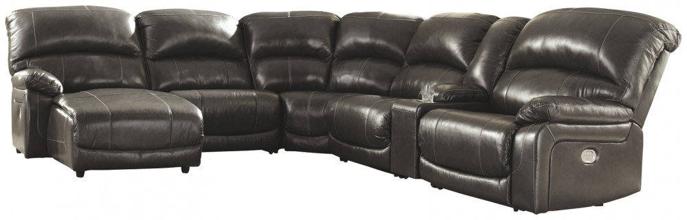 Hallstrung - Hallstrung 6-Piece Reclining Sectional with Chaise and Power
