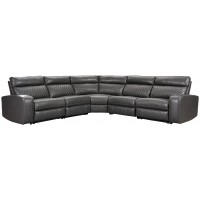 Samperstone - Samperstone 5-Piece Reclining Sectional with Power