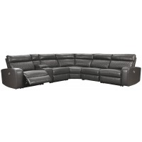 Samperstone - Samperstone 6-Piece Reclining Sectional with Power