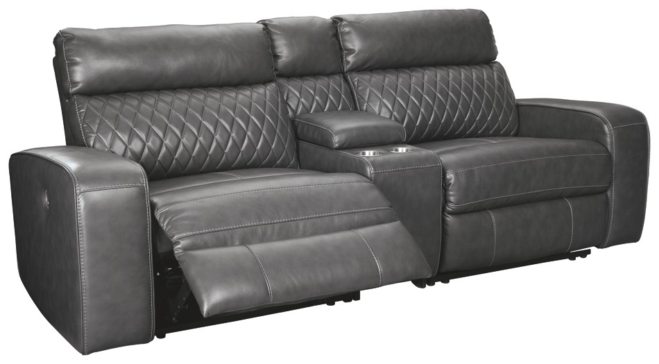 Samperstone 3-Piece Reclining Sectional with Power