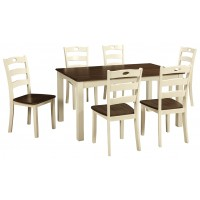 Woodanville - White/Brown - Dining Room Table Set (7/CN)