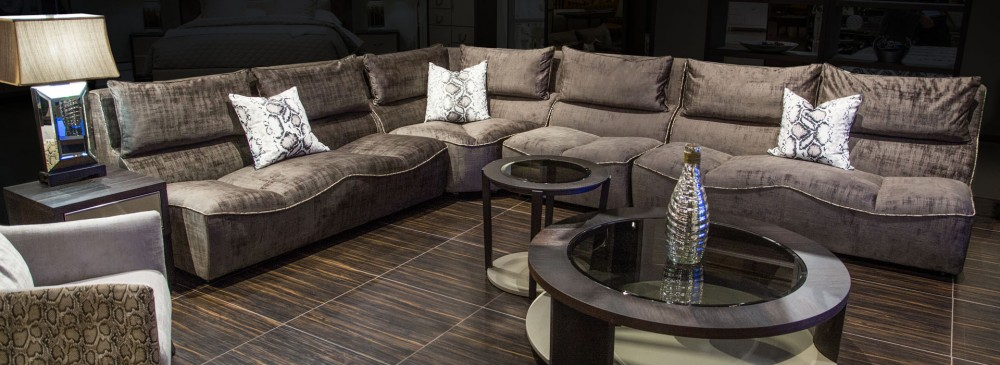 Michael Amini 21 Cosmopolitan Taupe  Living Room Collection