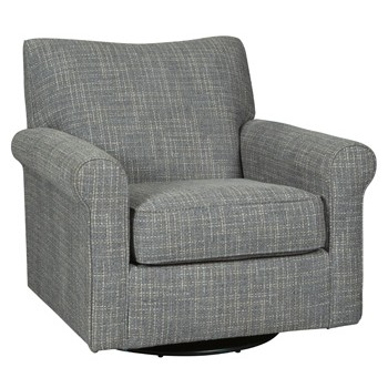 Renley - Ash - Swivel Glider Accent Chair