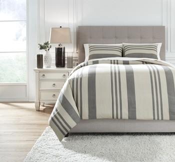 Schukei - Natural/Charcoal - King Comforter Set