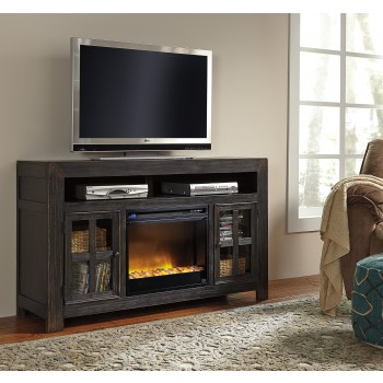 Gavelston TV Stand with Fireplace