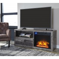 Derekson TV Stand with Fireplace