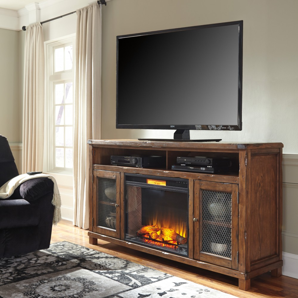 Tamonie TV Stand with Fireplace