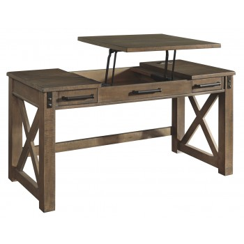 Aldwin - Gray - Home Office Lift Top Desk