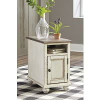 Realyn - White/Brown - Chair Side End Table