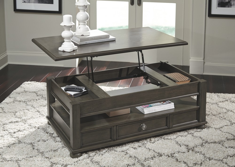 devenstead dark gray lift top cocktail table t534 9 cocktail tables furniture world wa. Black Bedroom Furniture Sets. Home Design Ideas