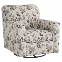 Abney - Driftwood - Swivel Accent Chair