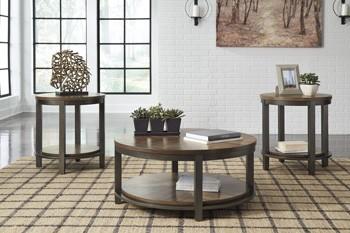 Roybeck - Light Brown/Bronze - Occasional Table Set (3/CN)