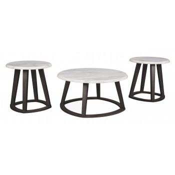 Luvoni - White/Black - Occasional Table Set (3/CN)