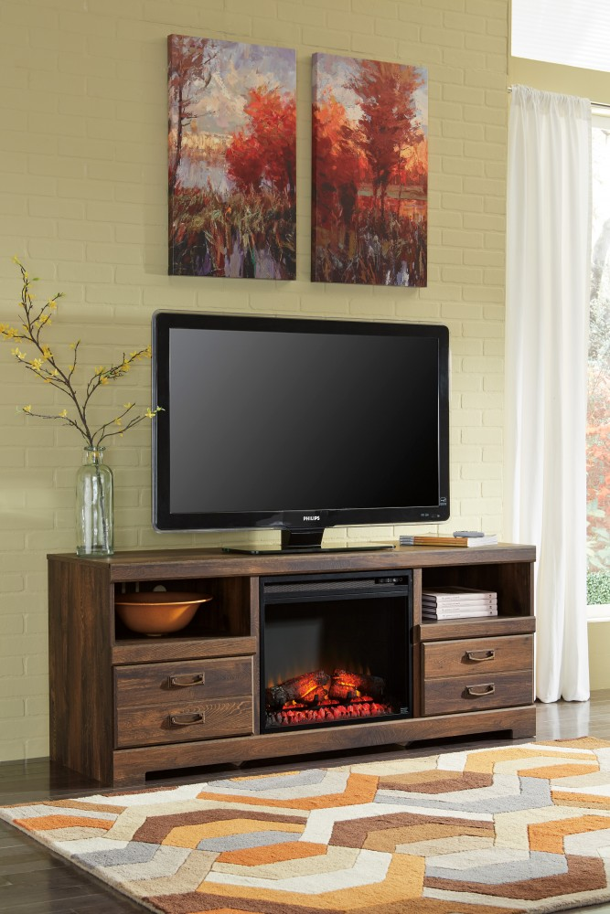 Quindel TV Stand with Fireplace