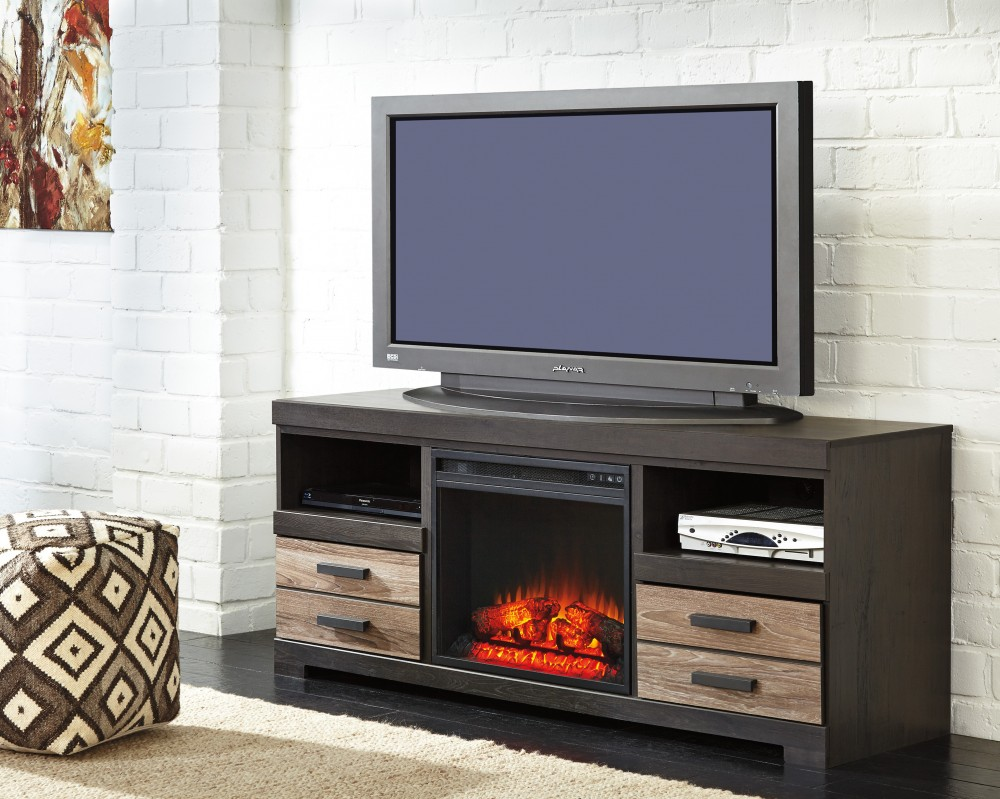 Harlinton TV Stand with Fireplace
