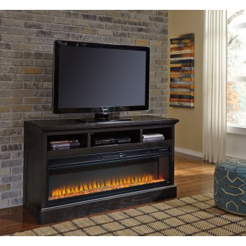 Sharlowe TV Stand with Fireplace