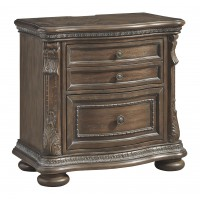 Charmond - Brown - Two Drawer Night Stand