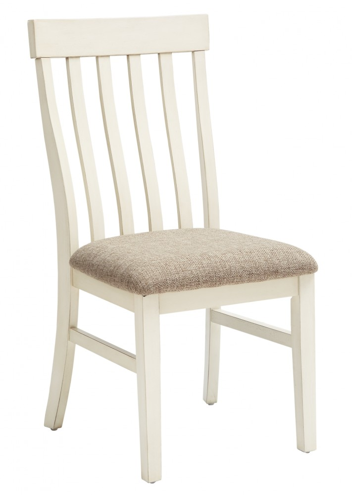 Antique White Dining Room Furniture: Dining UPH Side Chair (2