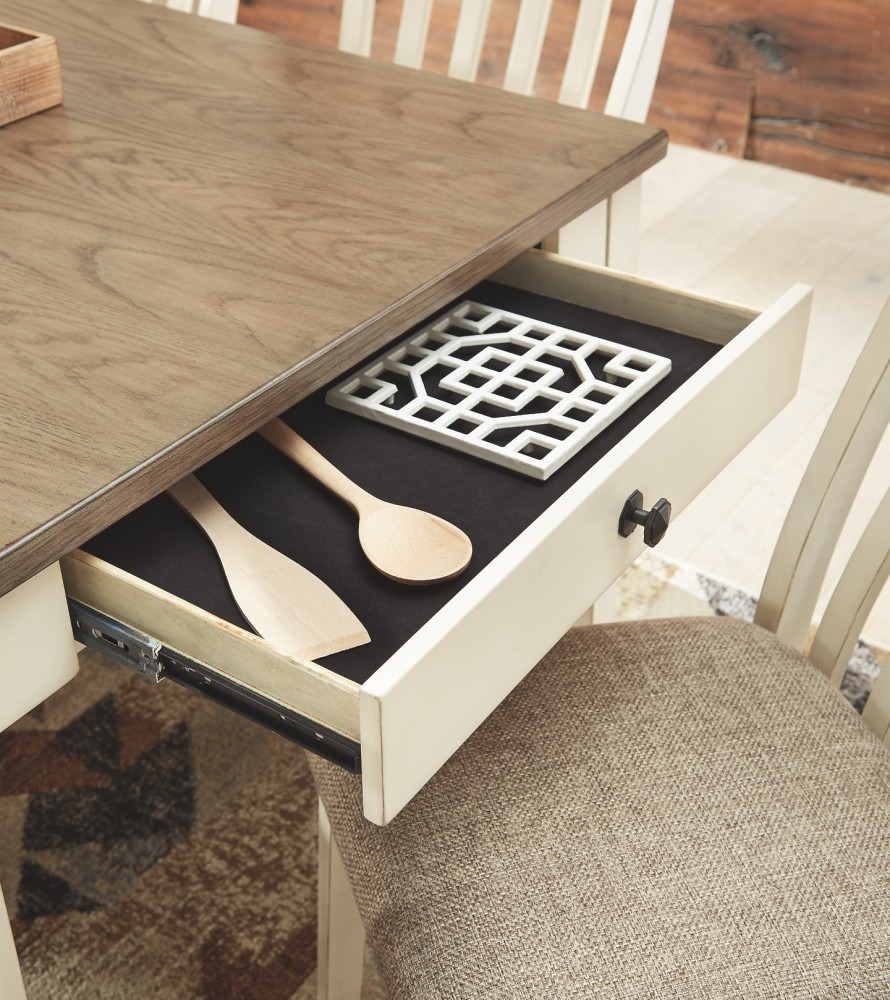 White And Brown Dining Table: Rectangular Dining Room