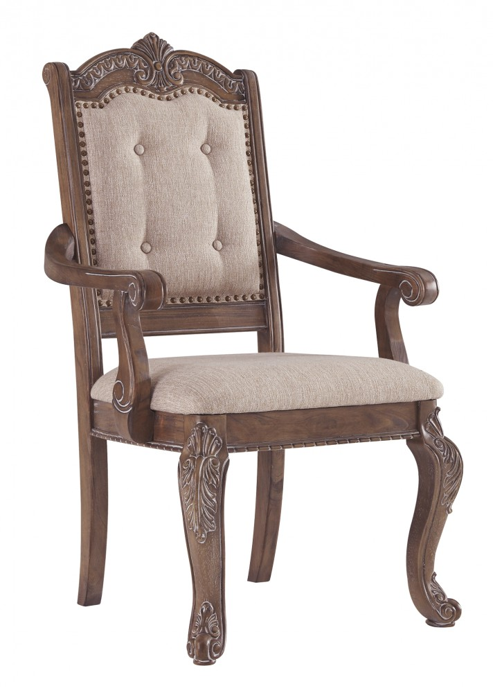 Charmond - Brown - Dining UPH Arm Chair (2/CN)