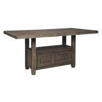 Wyndahl - Rustic Brown - RECT Counter Table w/Storage