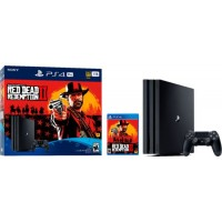Sony - PlayStation 4 Pro 1TB Red Dead Redemption 2 Console Bundle