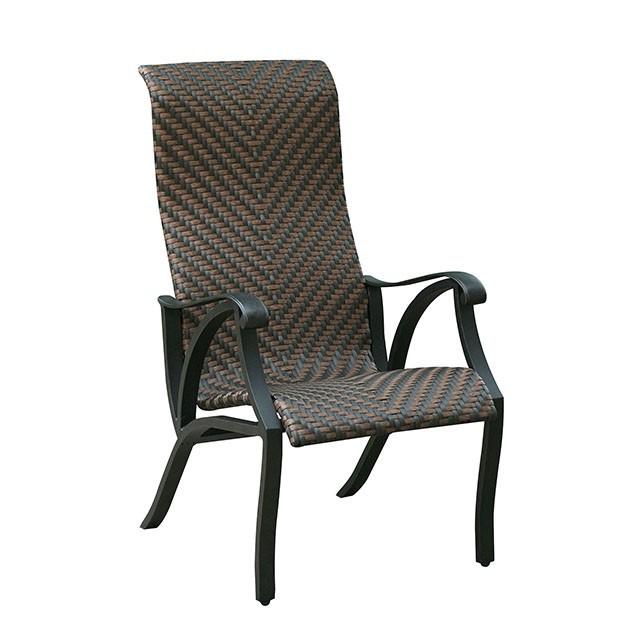 Chiara I - Faux Wicker Arm Chair (2/Box)